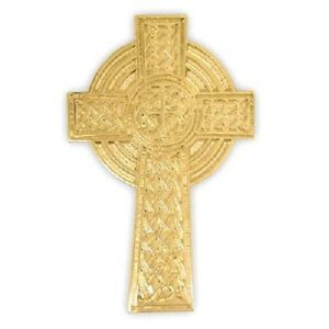 1 Gold Plated Celtic Cross Pin