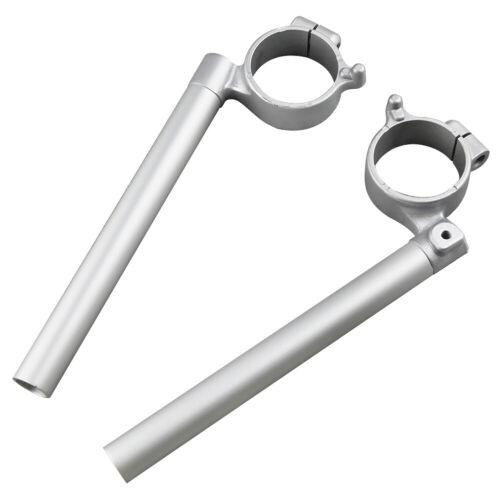 Pair Clip-On Handlebar for 2006-2010 SUZUKI GSXR600//750 Silver Aluminum Handle