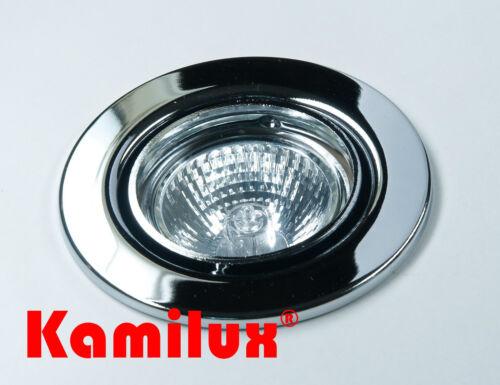 230V Halogen Einbaulampe Tom /& 35  Watt Leuchtmittel GU10 DIMMBAR schwenkbar