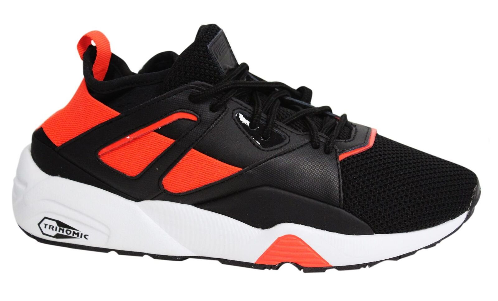 Puma Tech Blaze of Glory Sock Tech Puma Lace Up Black Orange Mens Trainers 362037 02 M8 546de2