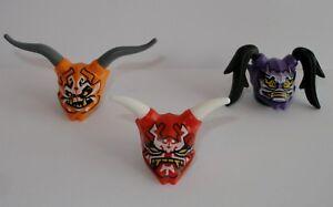 Details Zu Lego Ninjago Alle 3 Oni Masken Maske Hass Vergeltung Täuschung Waffen Waffe Neu