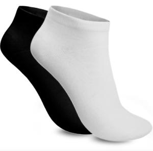 Ankle Socks Sport Trainer Socks Mens And Womens Black White 3 6 12 Pairs
