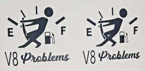 2x-V8-PROBLEMS-DECAL-STICKER-SCANIA-VOLVO-MAN-TRUCK-DAF-RENAULTNOVELTY-TRUCK