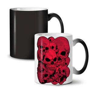 Goth Metal Death Skull NEW Colour Changing Tea Coffee Mug 11 oz | Wellcoda