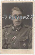 Foto Portrait Wehrmacht EK2 VWA Silber coloriert 2.WK AK original