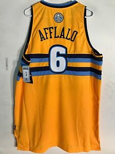 online store 4accf 75036 Details about Adidas Swingman NBA Jersey Denver Nuggets Aaron Afflalo Gold  sz XL