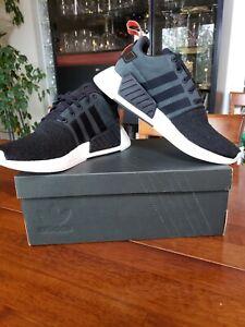 Details about Adidas Men's Shoes NMD R2 CG3384 Core Black Future Harvest Primeknit Size 9