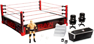 Elite Collection Raw Main Event Ring Playset Led Lights 20 x20  For 6  Figures