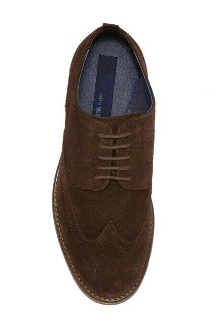 Joseph Abboud Men's Dress Shoes Wing Tip Brown Chocolate Suede Size 10 Robert 2