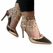 4cd4dc6fcafa item 1 NEW WOMENS LADIES HIGH HEELS STILETTO STUDDED POINTED TOE SHOES  SANDALS SIZE -NEW WOMENS LADIES HIGH HEELS STILETTO STUDDED POINTED TOE  SHOES SANDALS ...