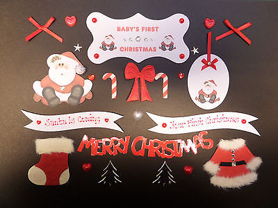 *24* BABY/'S FIRST CHRISTMAS CARDMAKING EMBELLISHMENTS-BABY 1st XMAS SCRAPBOOKING