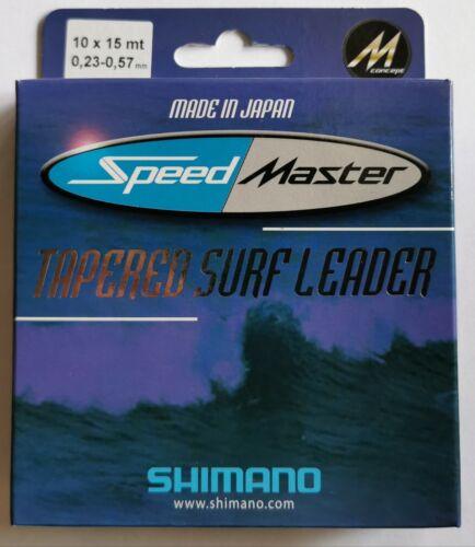 Shimano Speedmaster Tapered Surf Leader 10x15m 0.23-0.57mm Made In Japan