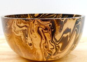 Large Wooden Bowl 9 Quot Mango Wood Serving Salad Fruit Snack