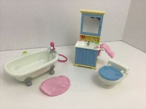 Fisher-Price-Loving-Family-Home-For-The-Holidays-Bathroom-Lot-Of-5-Pcs