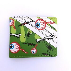 Hollywood Mirror Gothic Horror Zombie Punk 80s 90s Spider Eyeball Bones Wallet