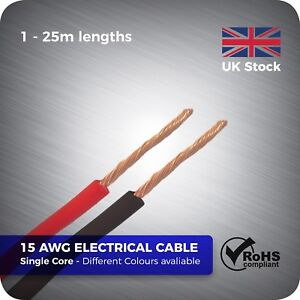 1.5mm Single Core Stranded Electrical Cable Copper Wire Conduit Length Colour