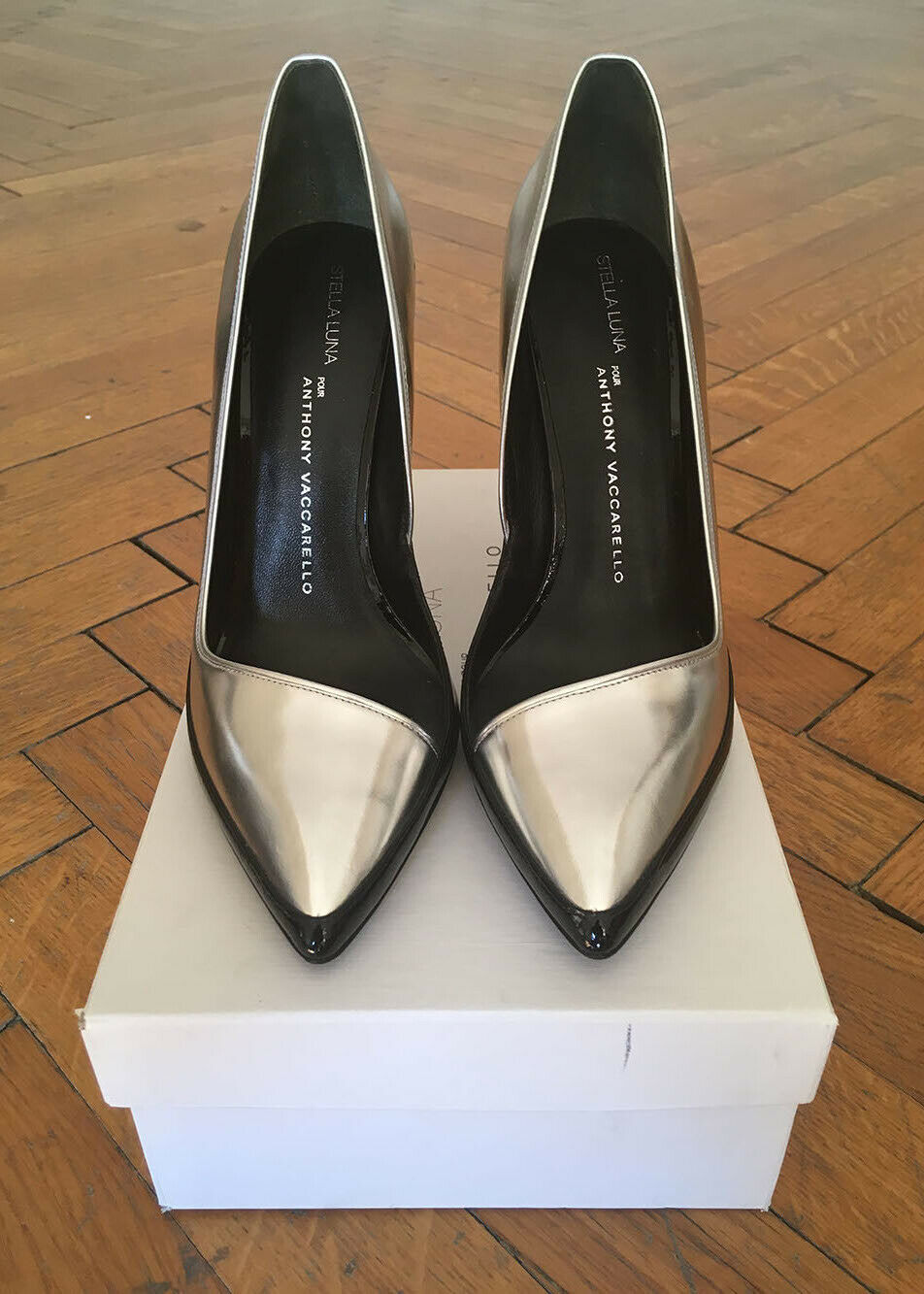 ANTHONY VACCARELLO TWO-TONE TWO-TONE TWO-TONE LEATHER PUMPS - NEW 0e5f16