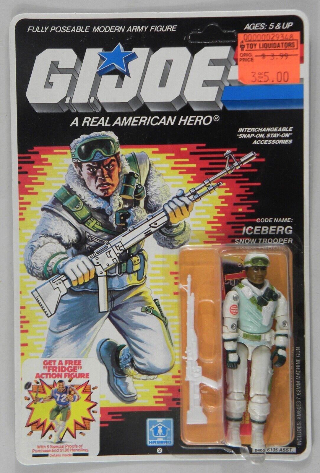 Hasbro 1985 GI Joe ARAH Snow Trooper Iceberg MOC c-8 mark on blister