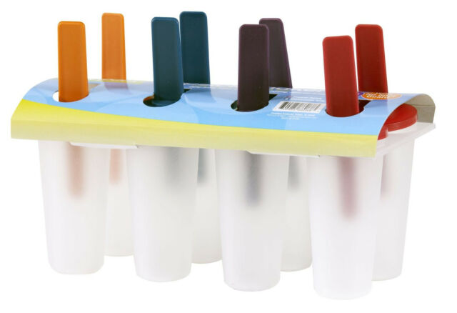 8 Freezer Ice Pop Maker Mold Popsicle Yogurt Ice Cream Frozen Pops Cake Treats