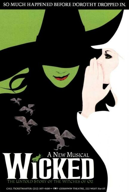 wicked broadway musical poster licensed usa 27 x 40