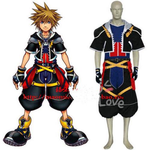 hot !Kingdom Hearts II 2 Sora Cosplay Costume Tailored