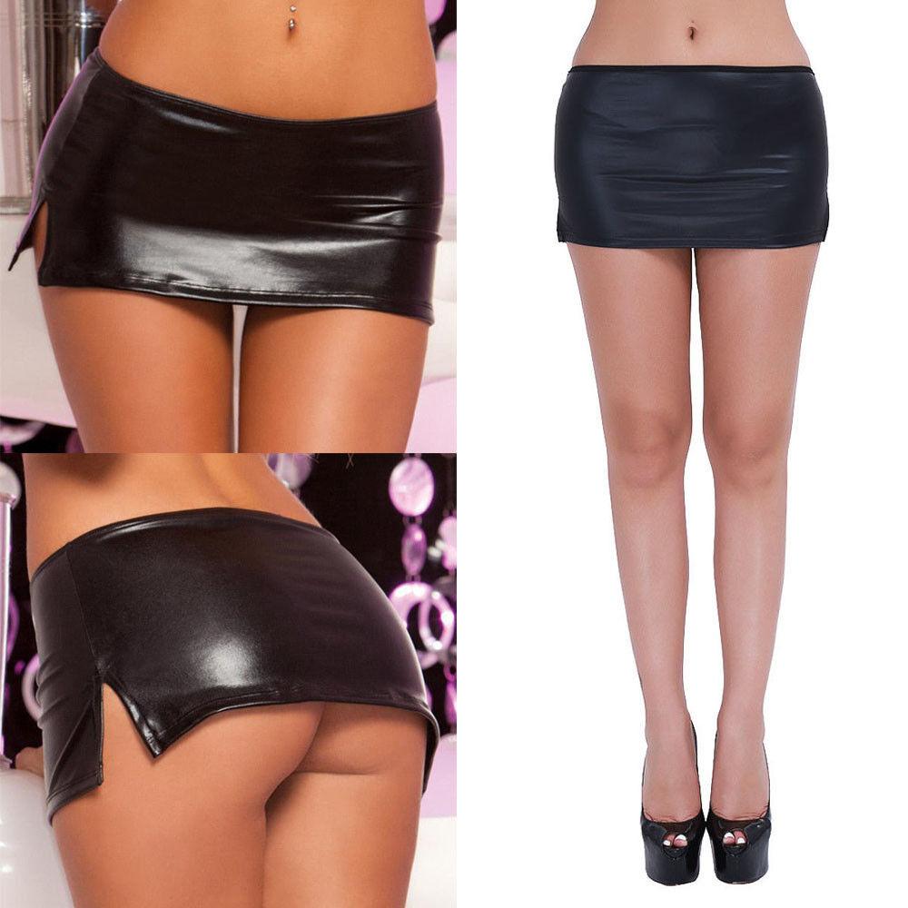 Sexy Black Women Mini Leather Skirt Short Tight Night Clubwear Clothing  Ebay-4794