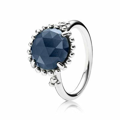Pandora Ring Midnight Star Blue Crystal Size 52 Auth 190910NBC-52 with Gift Box