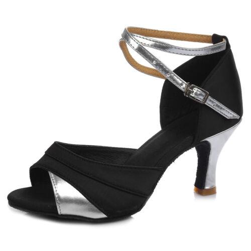 Brand New Women/'s Ballroom Latin Tango Dance Shoes heeled Salsa 6 Colors 255-S-W