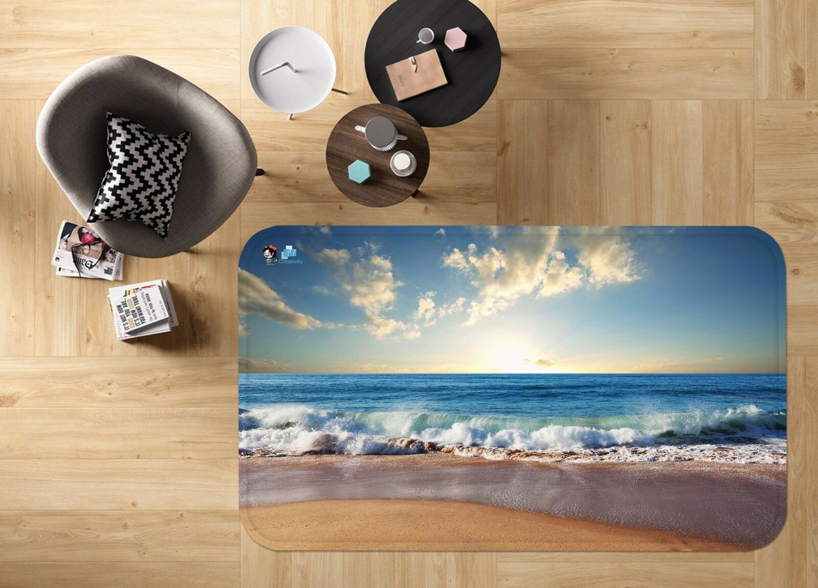 3D Sky Ocean Beach 477 Non Slip Rug Mat Room Mat Quality Elegant Photo Carpet AU
