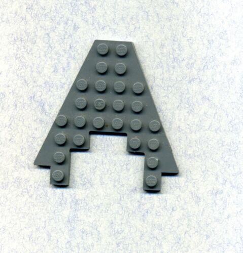 Lego--6104--Flügel--Platte--Mit Ausschnitt 3 x 4- Grau/DKStone -8 x 8