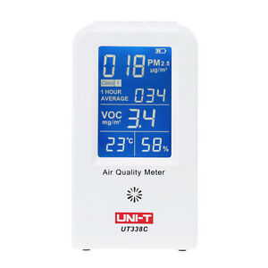 UNI-T-Air-Quality-Detector-Indoor-VOC-PM2-5-Data-Logger-Thermometer-Gas-Analyzer