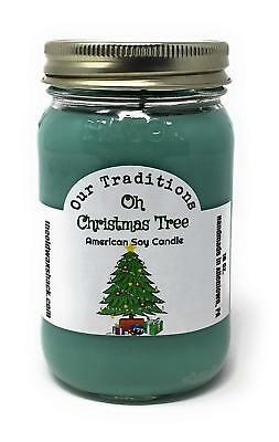 CANDLOVE Christmas TreeScented 16oz Mason Jar Candle 100/% Soy Made In The USA