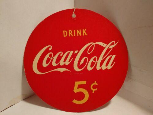1950s NOS scarce Coca-Cola Five Cent Fan Pull