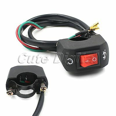 """Motorcycle Scooter Dirt Bike 7//8/"""" Handlebar ON-OFF Button Switch Universal NEW"""