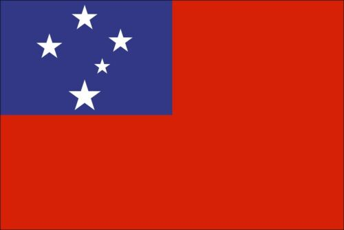 SAMOA COUNTRY VINYL FLAG DECAL STICKER