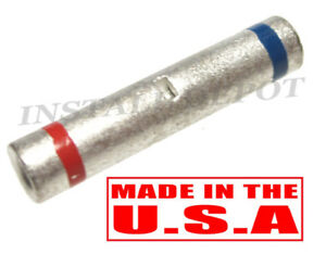 USA NON-INSULATED SEAMLESS BUTT WIRE CONNECTOR UNINSULATED 500 X 22-18 Ga