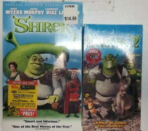 Mike Myers Shrek Special Edition Shrek 2 Dreamworks Vhs Tapes Mint Kids Sealed Ebay