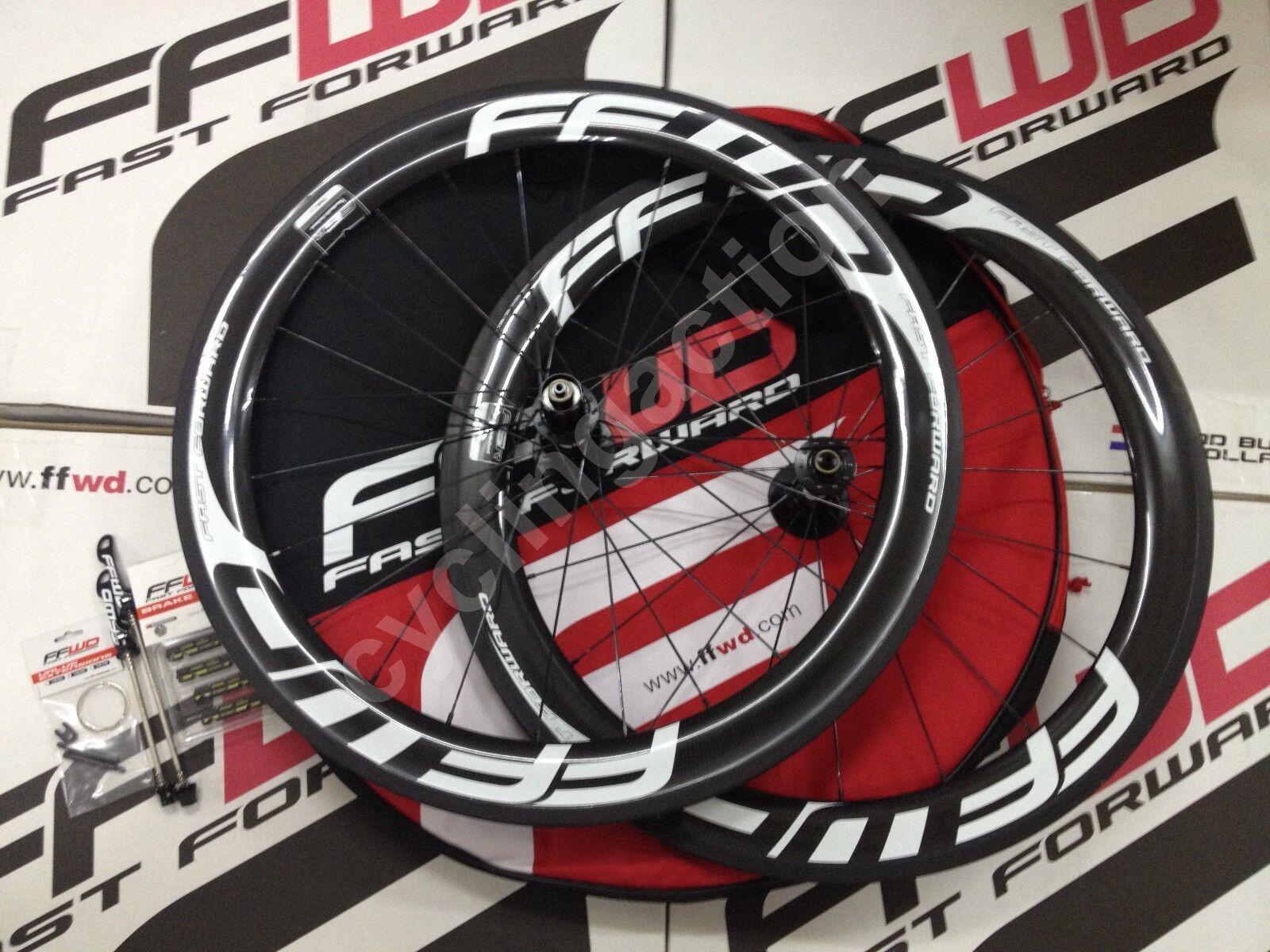 Fast  Forward FFWD F6R DT240s Wheel Set 20 24H Tubular White 11Sp Shimano  unique shape