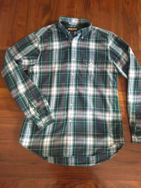 Ralph Lauren Rugby men's sz Large plaid cotton flannel shirt