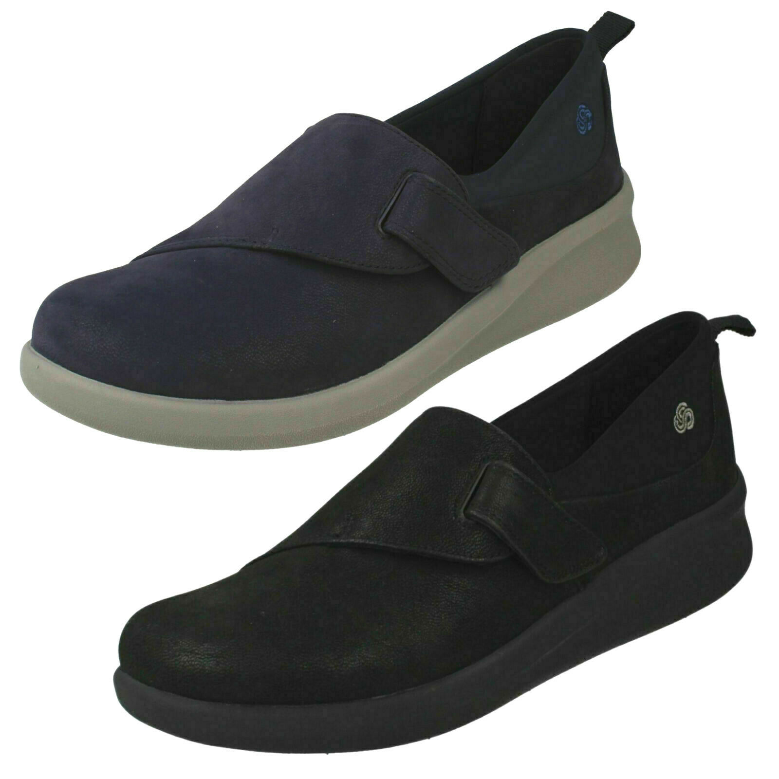 LADIES CLARKS SILLIAN 2.0 EASE RIP TAPE CASUALS