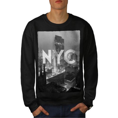 City Casual Pullover Jumper Wellcoda New York American Mens Sweatshirt