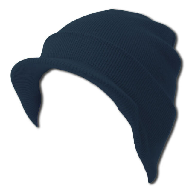 7b1e7917d54a0 Blank Cuff Beanie Visor Comes in Many Different Colors Navy for sale ...
