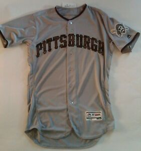 sports shoes e89ff 81a93 Details about Rare Pittsburgh Pirates AUTHENTIC Majestic cool base USMC  chamofuge JERSEY 40