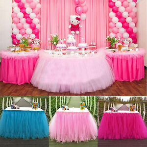 Image Is Loading Princess TUTU Tulle Table Skirts For Wedding Party