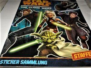 Star Wars The Clone Wars Sticker Album Staffel 5 Topps Neu,Lizenz,Rarität