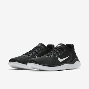 975e5b243bd1d5 Image is loading Nike-Free-RN-2018-Black-White-Mens-Running-