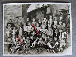 Mistelgau Oberfranken Schultüte Zuckertüten Klassenfoto Mädchen Buben Zöpfe 1959