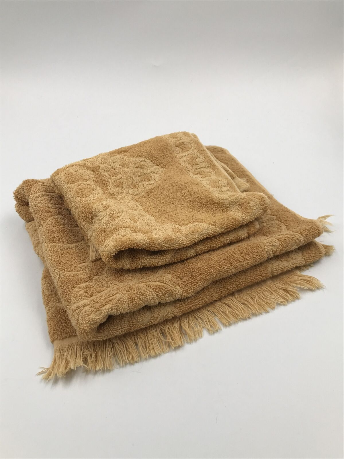 Gold Label Cannon All Cotton Made In USA Tan Hand & Bath Towels