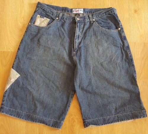 Jeans jeans W40 extra W40Enyce Extra Man's denim Hip large Hop in Pantaloncini Man Man Blue chiaro Enyce Hop Denim Urban Hip Cotton Shorts di Large blu EDIWH2Y9