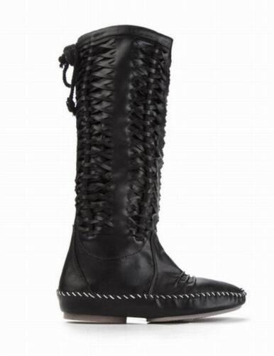 Shumaxx Ladies women/'s Cut Out Intertwined Boot Shoes UK 4 EU 37 USA 6